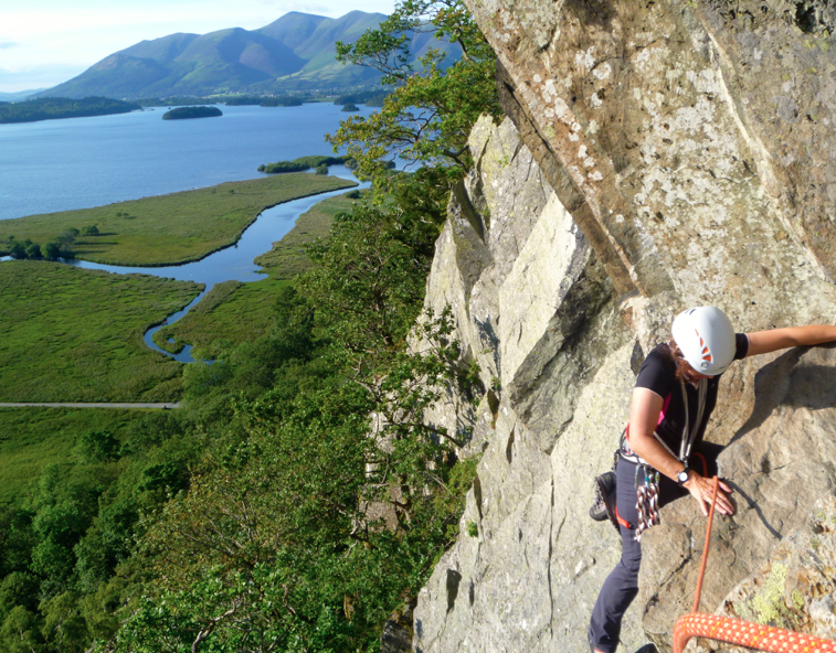 Multi-pitch rock climbing Lake District