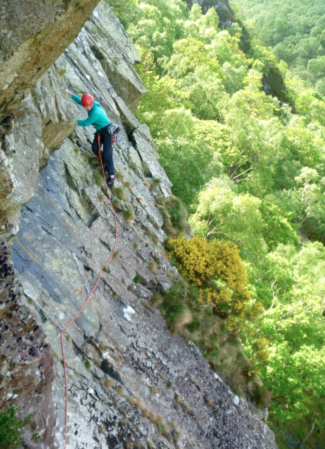 Troutdale pinnacle, guided rock climbing Lake District