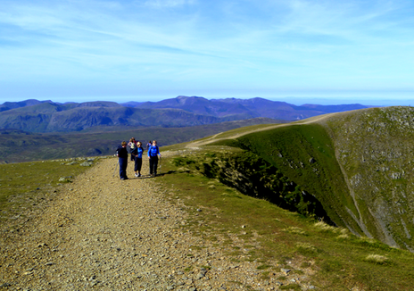 Helvellyn - Guided walking