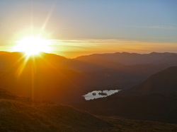 Rydal water from Red Screes - Sunset