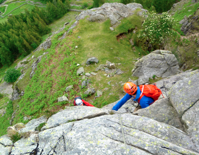 Rock-scrambling-Lake-District