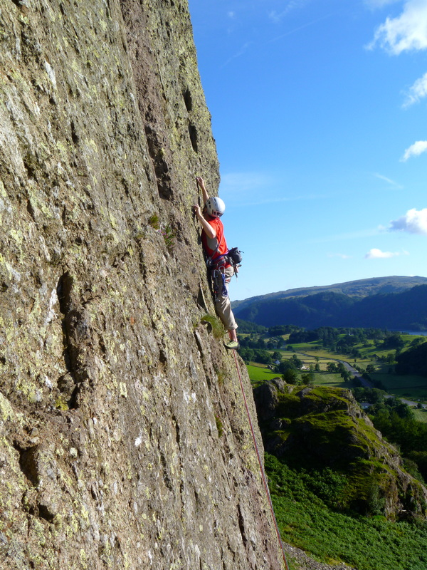 Multi-pitch climbing - Lake District