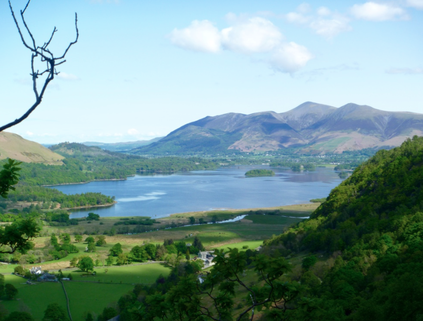 Derwentwater from Troutdale Pinnacle, Borrowdale