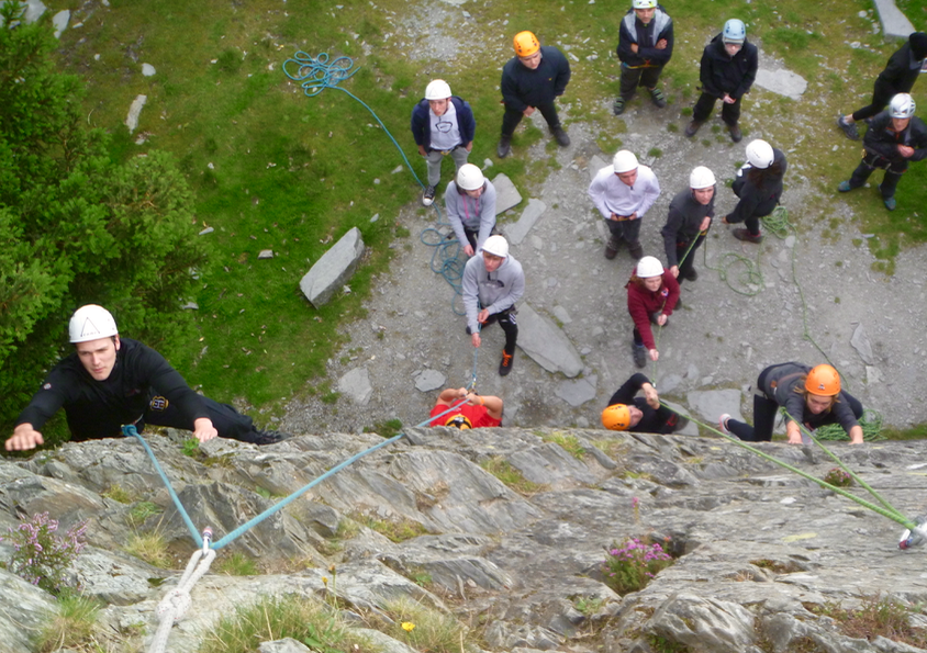#begineer rock climbing lake district