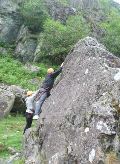 Beginner climbing in the Lake District