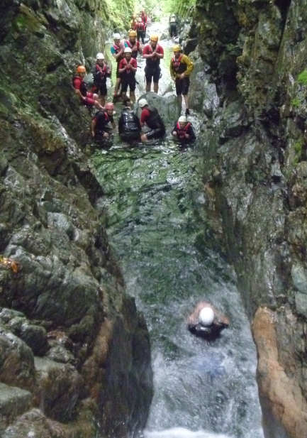 Canyoning in the Lake District - Church beck