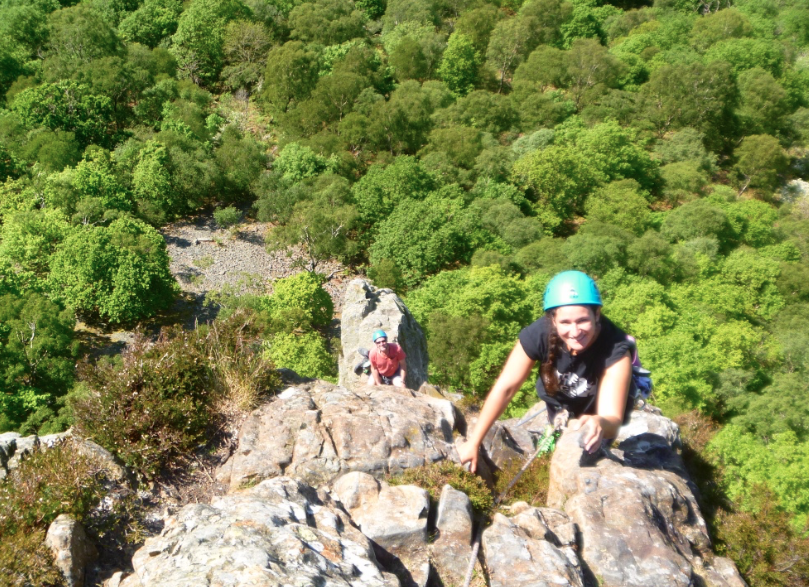 Rock climbing course in the Lake District