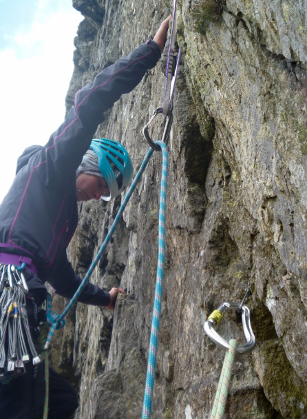Lead rock climbing course - Lake District