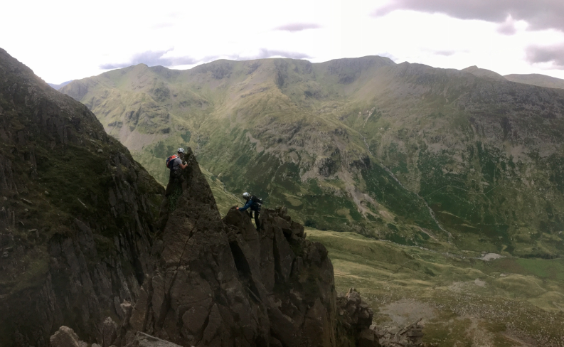 #pinnacle ridge #advanced scrambling course #lake district