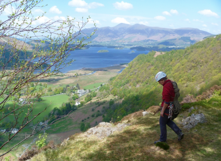 Rock-climbing-in-Borrowdale-Lake-District