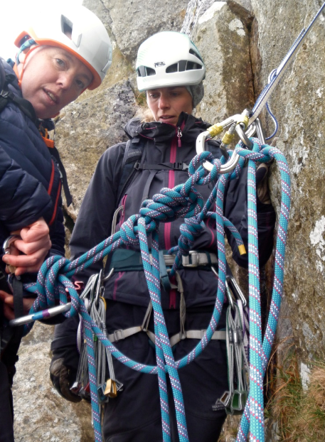 Rope skills for scrambling, easy climbing, and mountaineering