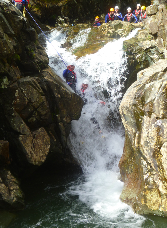Stag group canyoning activity - Lake District