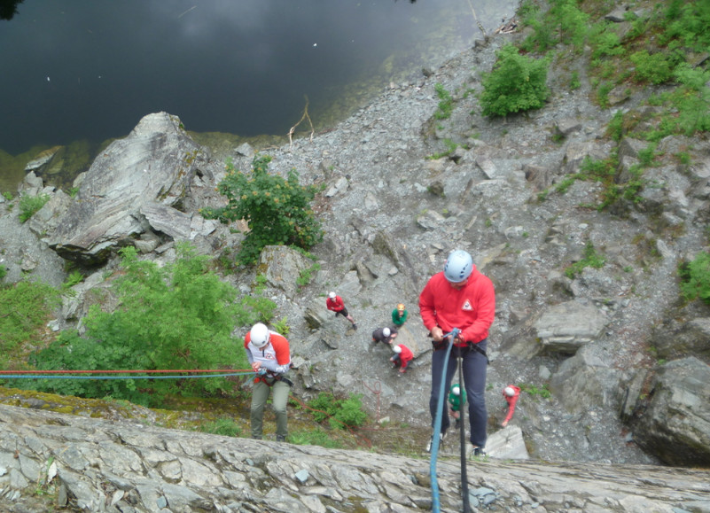 Abseiling for groups and families - Lake District