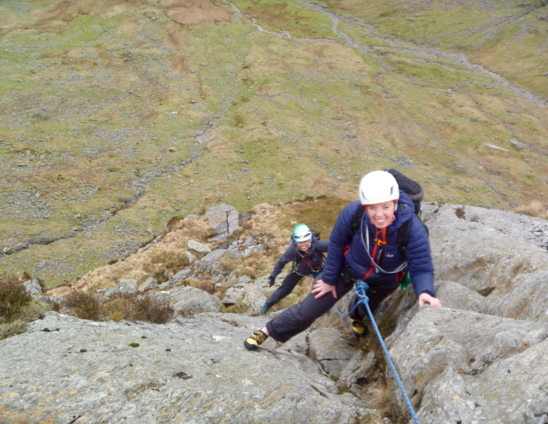 Corvus, Raven crag, Borrowdale. Rock climbing in the Lake District