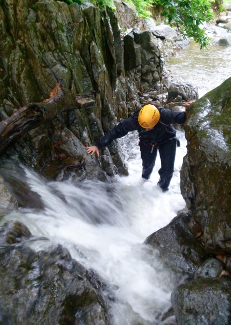 Gorge scrambling near Windermere