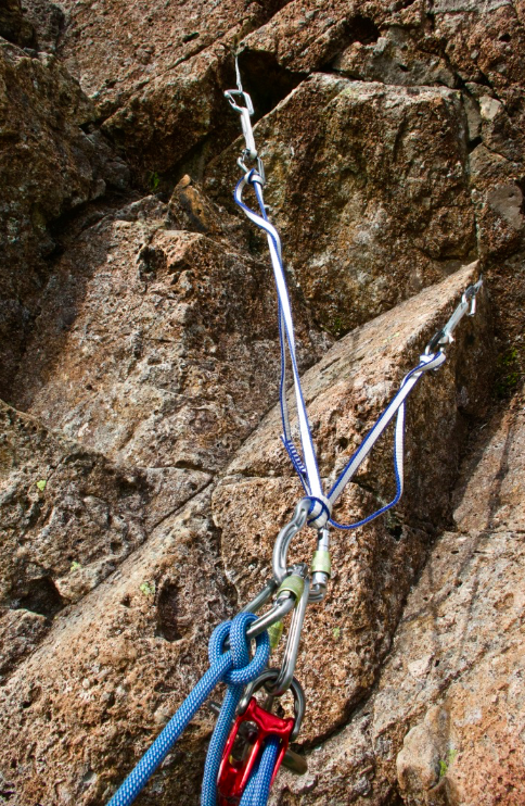 #equalising-rock-climbing-anchors-using-a-sling