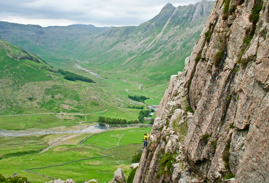 Rock climbing in the Lake District - Raven crag, Langdale