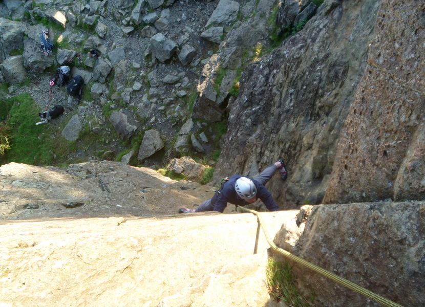 Rock-climbing-in-Langdale-Ambleside