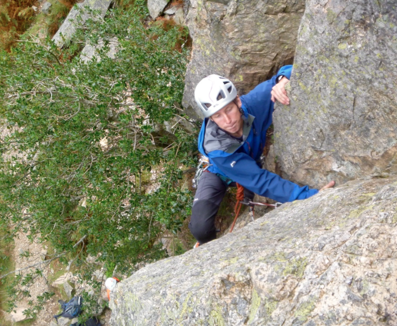 lead rock climbing course, Lake District